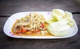 Thai papaya spicy salad. Or know as Som Tum royalty free stock photo