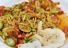 Thai papaya spicy salad Royalty Free Stock Image