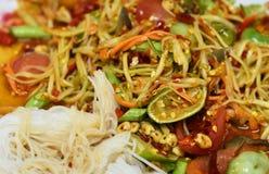 Thai papaya spicy salad. Or know as Som Tum royalty free stock photos