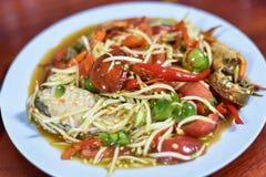 Thai papaya spicy salad. Or know as Som Tum royalty free stock image