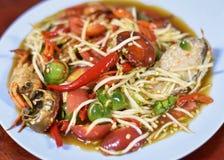 Thai papaya spicy salad. Or know as Som Tum stock photography