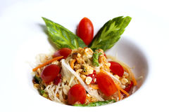 Thai papaya spicy salad or know as Som Tum Royalty Free Stock Images