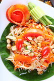 Thai papaya spicy salad. Som Tum Thai Stock Photography