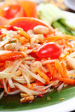Thai papaya spicy salad, Som Tum Thai Royalty Free Stock Images