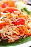 Thai papaya spicy salad, Som Tum Thai. Closeup Thai papaya spicy salad, Som Tum Thai royalty free stock images