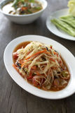 Thai papaya spicy salad. In thailand Royalty Free Stock Photos