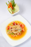thai papayasallad royaltyfri fotografi