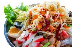 thai papayasallad Arkivbilder