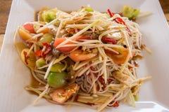 thai papayasallad Arkivfoto
