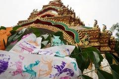 The Thai paper flag songkran festival is so beautyful. Thai paper flag songkran festival is so beautyful stock photos