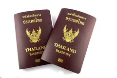 Thai passport Stock Photos
