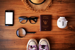 Thai passport and hat .Concept travel royalty free stock photography