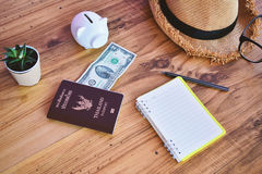Thai passport and hat .Concept travel stock images