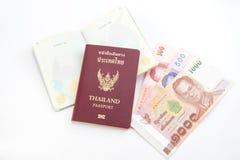 Thai passport. In white background stock photo