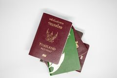 Thailand passport with white background royalty free stock photo