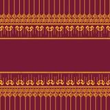 Thai patern 11. Thai patern gold red m,odern Vector Illustration