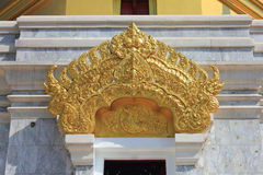 Thai pattern. Thai design on top of temple door Stock Photo
