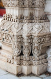 Thai pattern architecture detail in buddist temple Royalty Free Stock Images
