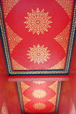 Thai Pattern Art on Ceiling of  Public Thai Pavilion. Royalty Free Stock Photography