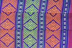 Thai pattern art style on cotton pillow Royalty Free Stock Photos
