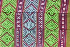 Thai pattern art style on cotton pillow royalty free stock photo