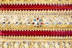 Thai pattern art wall ,texture background Royalty Free Stock Images