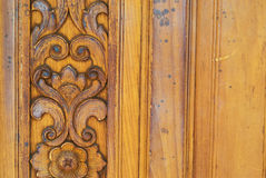 Thai pattern carved wood texture Royalty Free Stock Images
