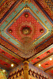 Thai pattern on the ceiling in templ. Thai painting and pattern on the ceiling in temple stock illustration