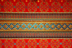 Thai pattern on the ceiling in temple. Thai painting and pattern on the ceiling in temple stock illustration