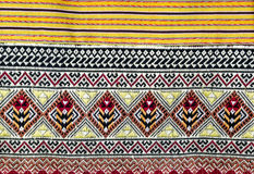 THAI PATTERN ON COTTON FABRICS Stock Photography
