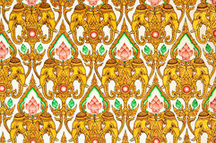 Thai Pattern Design on wall Royalty Free Stock Photography