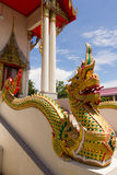 Thai Pattern Design on wall. Traditional Ornament Paint on Temple wall Stock Photos