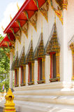 Thai Pattern Design on wall. Traditional Ornament Paint on Temple wall Royalty Free Stock Images