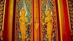 Thai pattern door of Temple in Phuket Thailand stock video