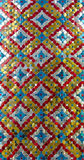 Thai pattern at Emerald Buddha Temple wall Stock Image