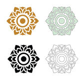 Thai pattern flower Royalty Free Stock Image