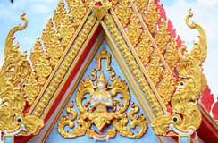 Thai pattern on Gable Stock Image