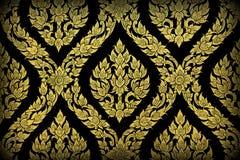 Thai pattern mural Stock Photos