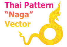 Thai pattern naga details vector Royalty Free Stock Image