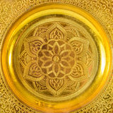 Thai pattern on old brass  may be used as decoration thailand fo Stock Photo