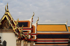 Thai Pattern Roof Church on temple, Bangkok, Thailand. Stock Images