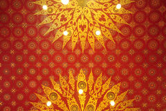 Thai pattern in temple Stock Photo