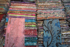 Thai pattern textile for sale Stock Image