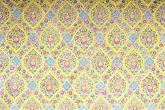 Thai pattern wall Royalty Free Stock Photo