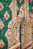 Thai pattern on wall of church at  Wat Rakhang Khositaram. Bangkok ,Thailand royalty free stock photo