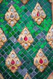 Thai pattern on wall of church at  Wat Rakhang Khositaram. Bangkok ,Thailand royalty free stock images