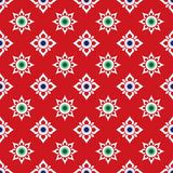Thai pattern in wall painting,Laithai. Thai pattern in wall painting inspired by flowers Royalty Free Stock Photos