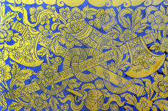 Thai pattern wall Stock Images