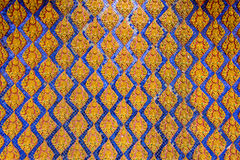 Thai pattern wall of Thai temple Royalty Free Stock Image