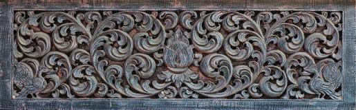 Thai Pattern of wood Stock Photo